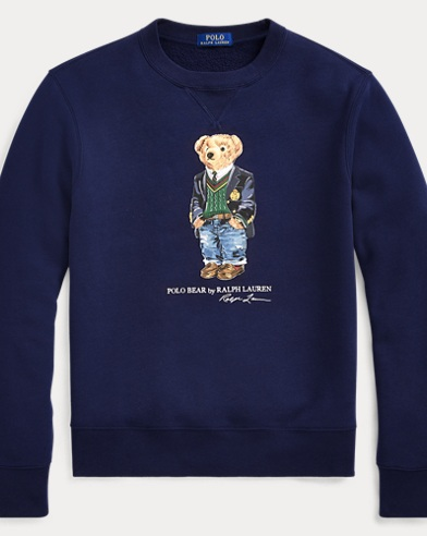 Preppy Bear Fleece Sweatshirt