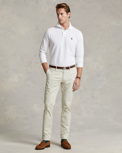 Long-Sleeved Mesh Polo Shirt - All Fits