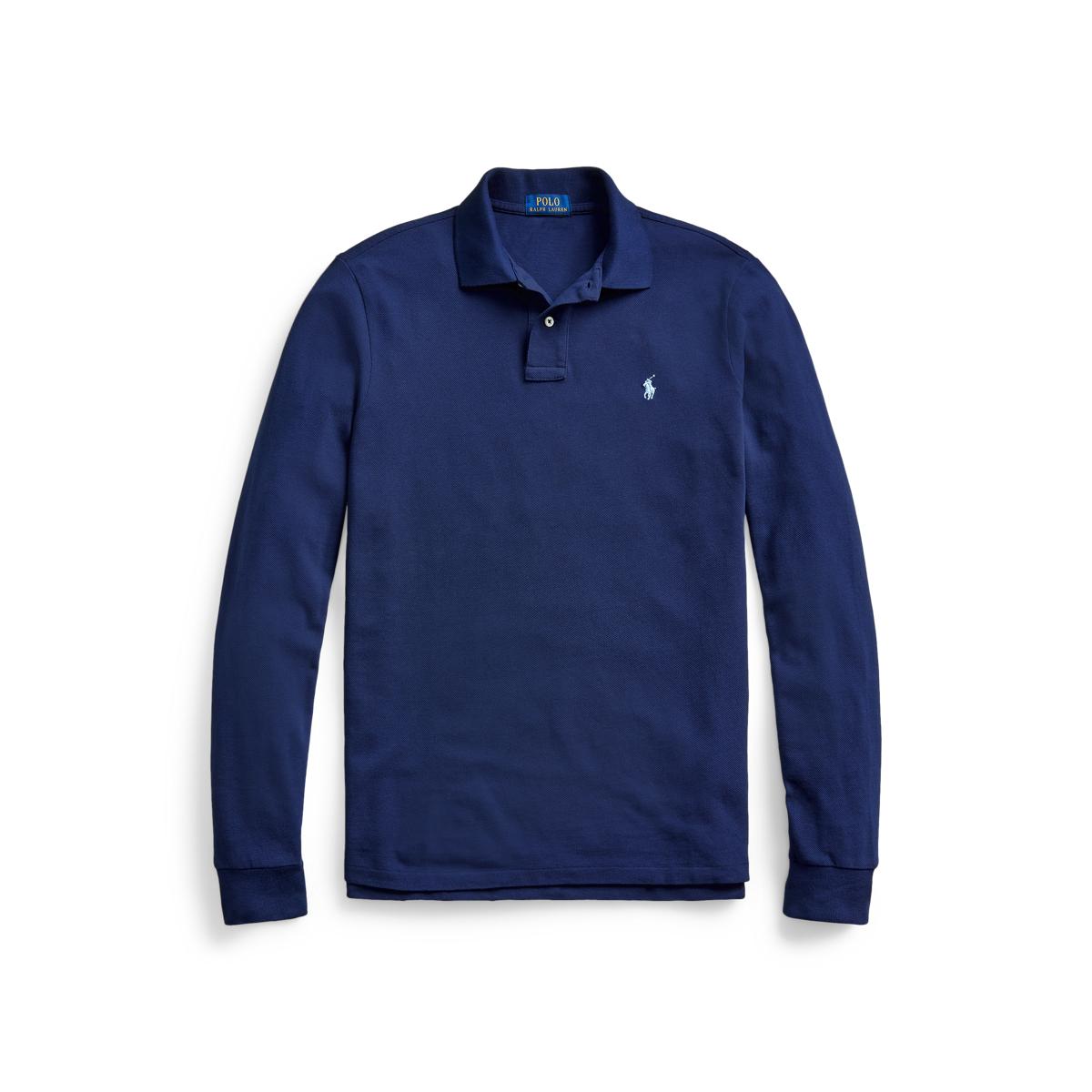Ralph Lauren Men's Paris Polo Shirt Number 5 Custom Slim Fit Navy Blue Size XXL