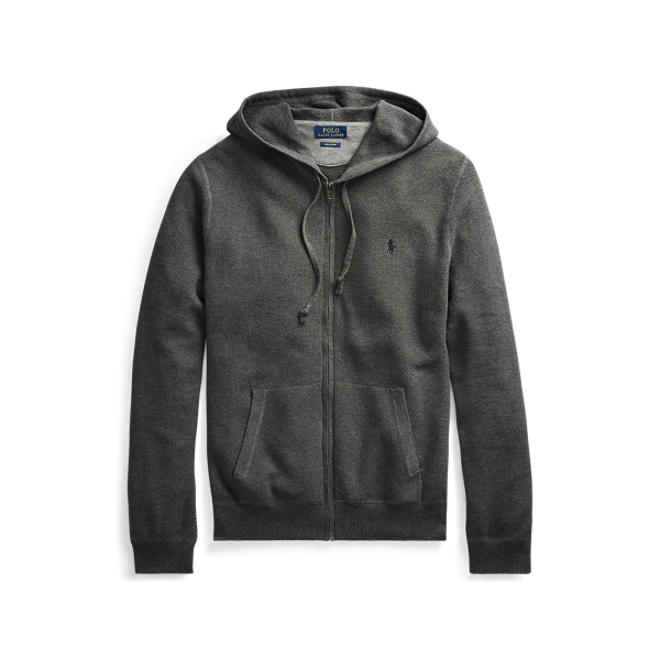 폴로 랄프로렌 Polo Ralph Lauren Cotton Full-Zip Sweater,Dark Grey Heather
