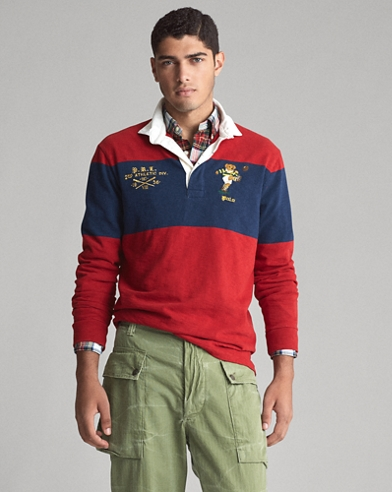 Classic Fit Bear Rugby Shirt