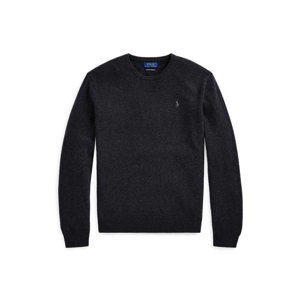 폴로 랄프로렌 맨 워시어블 캐시미어 스웨터 Polo Ralph Lauren Washable Cashmere Crewneck Sweater,Dark Granite Heather