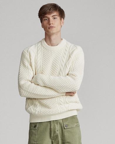 Aran-Pullover aus Wollmischung