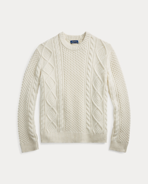 Wool Sweater Wool Sweater Aran Wool Cashmere Aran Cashmere Aran uK3lF1JTc