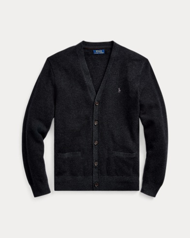 Birdseye Merino Wool Cardigan