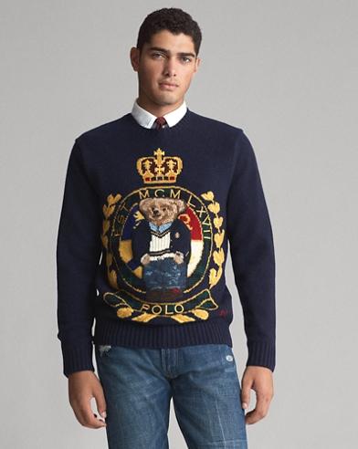 Wollpullover mit Crest Bear