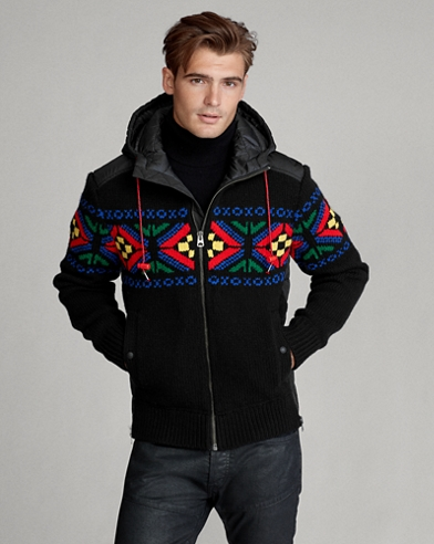 Fair Isle Hooded Jumper