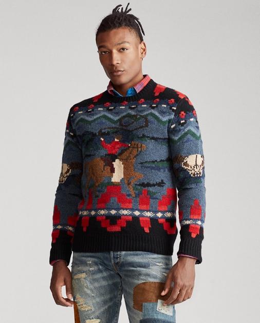 Cowboy Hand Knit Sweater Ralph Lauren
