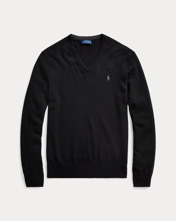 Washable Wool V-Neck Sweater