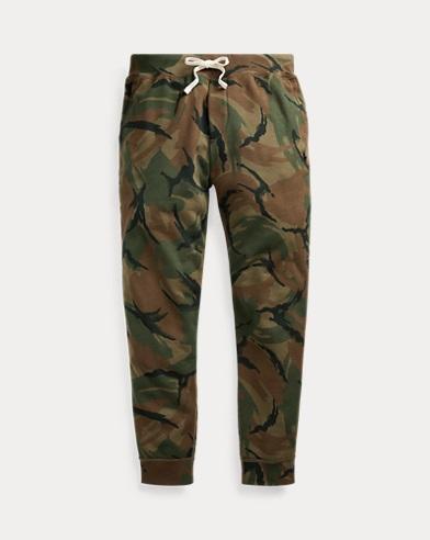 Pantalonijogging in felpa camouflage