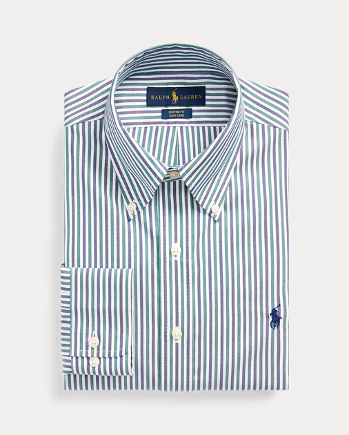 uk availability classic style reasonably priced Custom Fit Striped Shirt