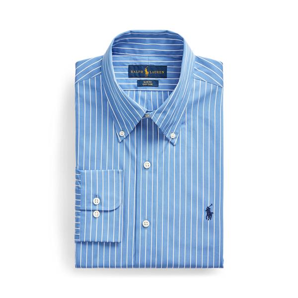 폴로 랄프로렌 드레스 셔츠 Polo Ralph Lauren Slim Fit Striped Poplin Shirt,Blue/White