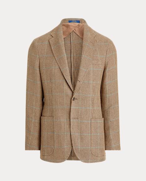 Plaid Tick-Weave Sport Coat