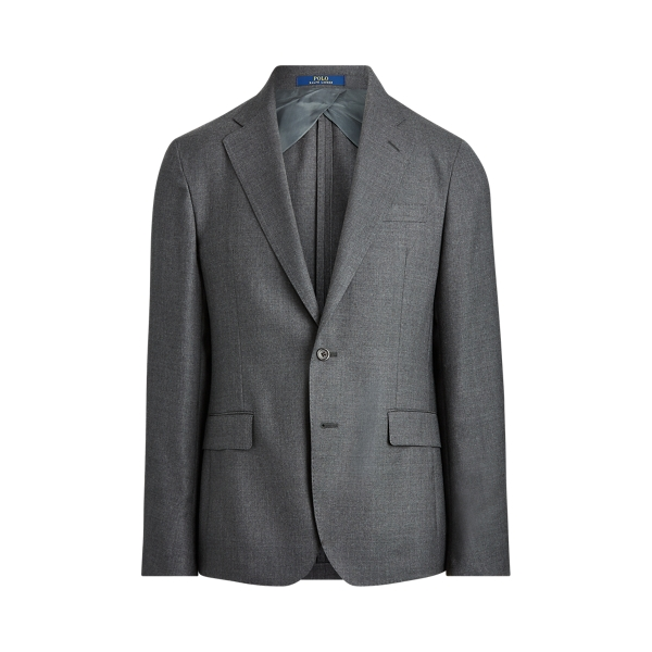 폴로 랄프로렌 Polo Ralph Lauren Polo Soft Wool Oxford Suit Jacket,Medium Grey