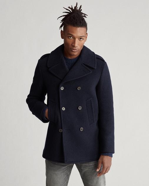 brand new 5f8d6 4714e Polo Wool-Blend Peacoat