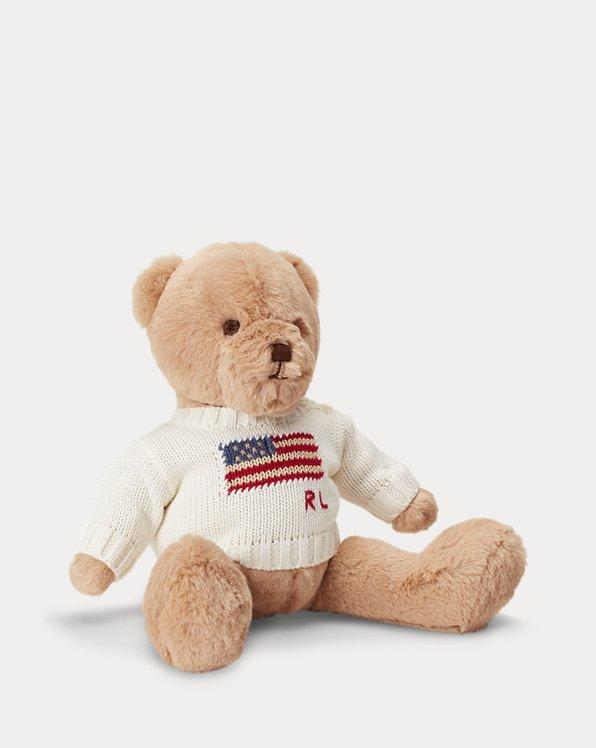 Polo Bear mit Flaggenpullover