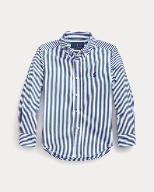 Boys 2-7 Striped Stretch Cotton Shirt 1