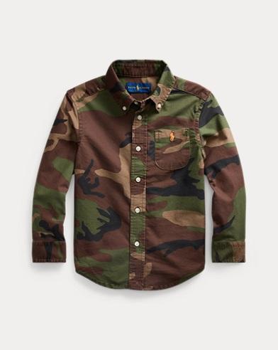 Camo Cotton Oxford Shirt