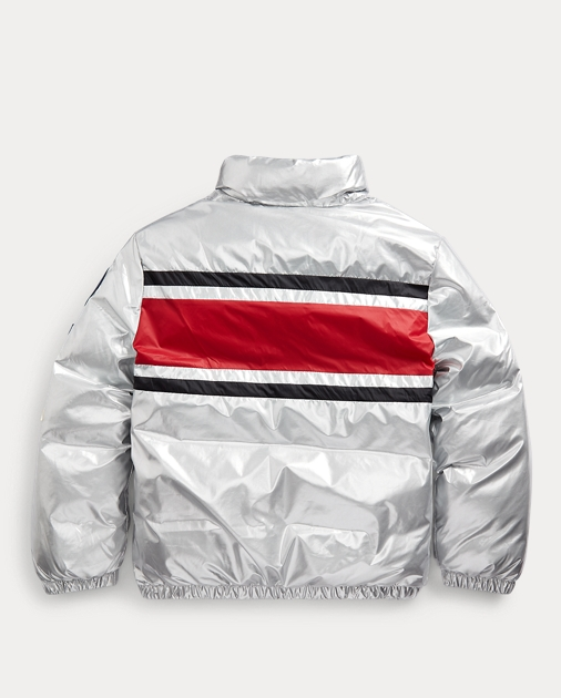 Striped Down Jacket