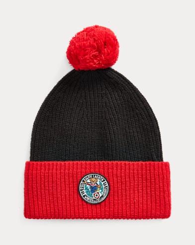 Snowboard Bear Wool-Blend Hat