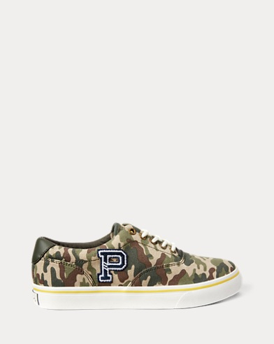 Thornton Camo Canvas Trainer