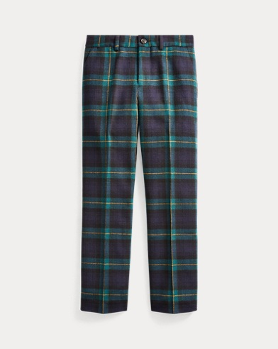 Slim Fit Tartan Wool Trouser