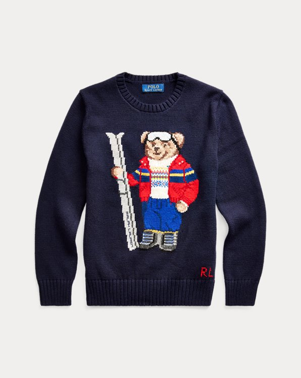 Ski Bear Cotton-Blend Jumper