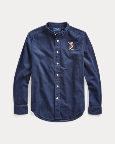 Snowboard Bear Corduroy Shirt