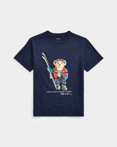 T-shirt ourson skieur jersey coton