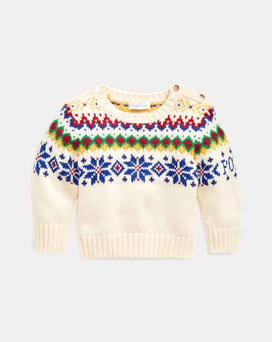 Snowflake Cotton-Wool Jumper