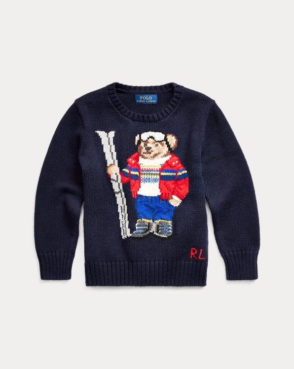 Pull ourson skieur coton mélangé