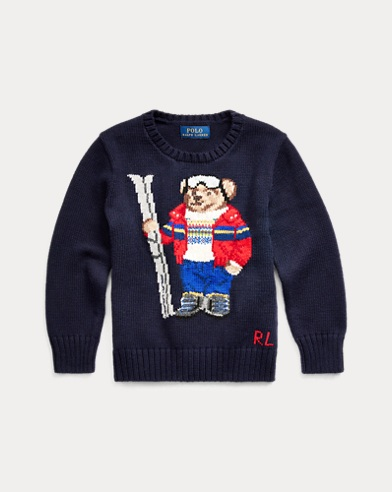 Ski Bear Cotton-Blend Sweater