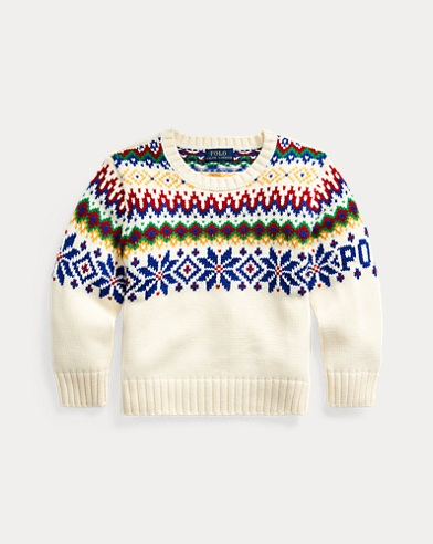 Fair Isle Cotton-Wool Sweater