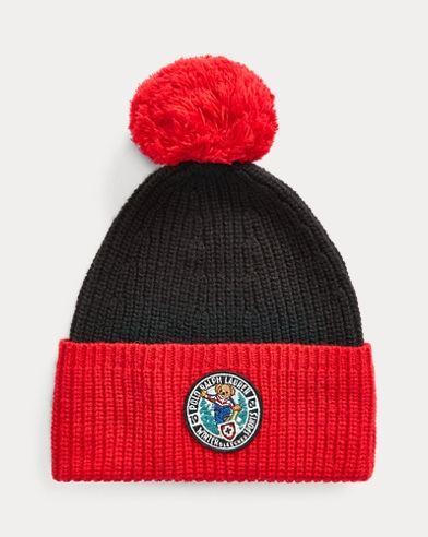 Snowboard Bear Wool-Blend Hat