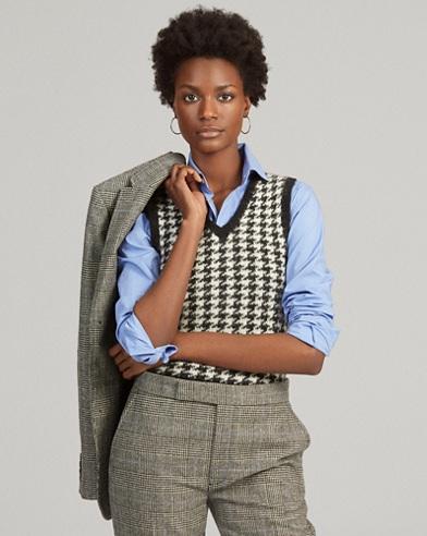 Wool-Blend Sweater Vest
