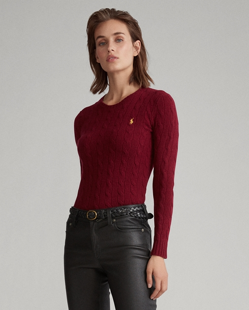 Polo Ralph Lauren Cable-Knit Wool-Blend Sweater 1