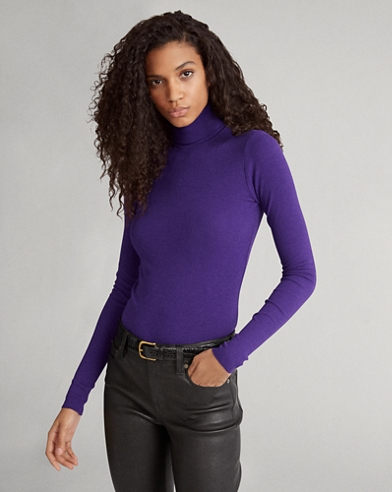 Ribbed Long-Sleeve Turtleneck