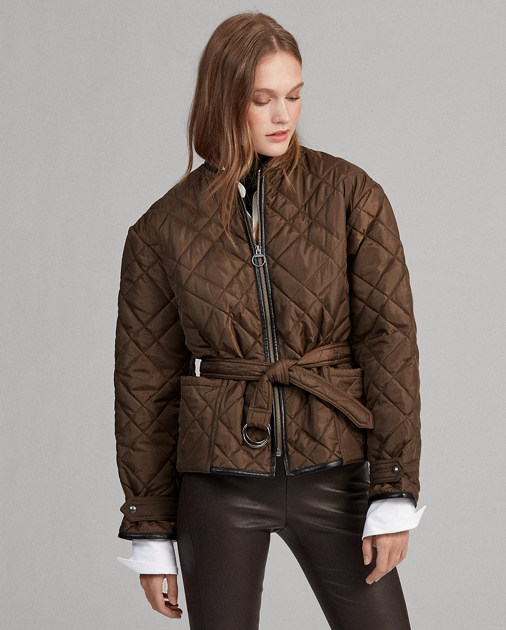 542233f90 Quilted Bomber Jacket
