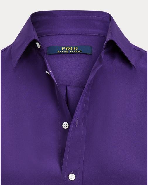 Polo Ralph Lauren Langärmliges Hemd aus Seidencrêpe 6