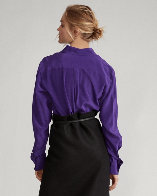 Polo Ralph Lauren Langärmliges Hemd aus Seidencrêpe 5