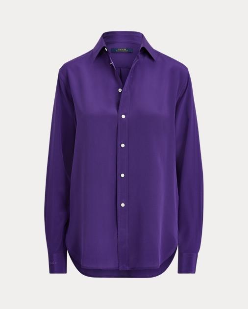Polo Ralph Lauren Langärmliges Hemd aus Seidencrêpe 2