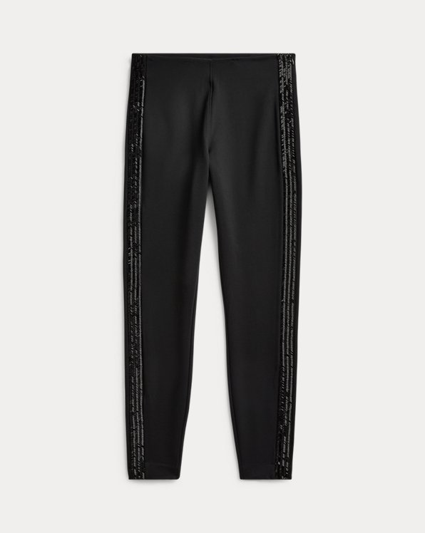 Beaded Ponte Knit Trouser