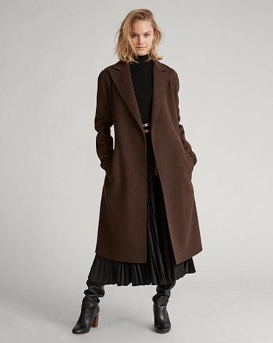 Manteau portefeuille en laine mélangée