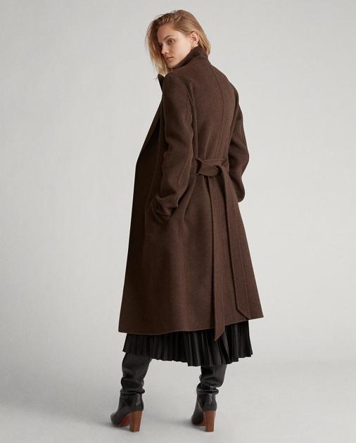 nouvelle arrivee 4e2c7 c52b4 Wool-Blend Wrap Coat