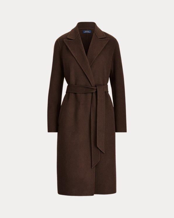 Wool-Blend Wrap Coat