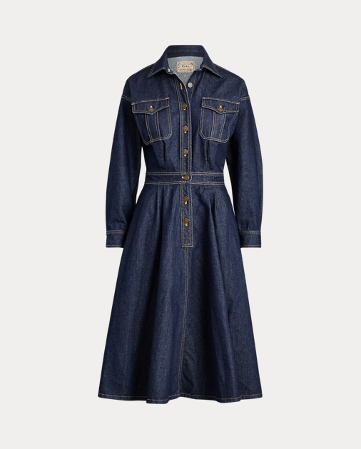good quality pretty cheap buy sale Denim Long-Sleeve Shirtdress - Ralph Lauren