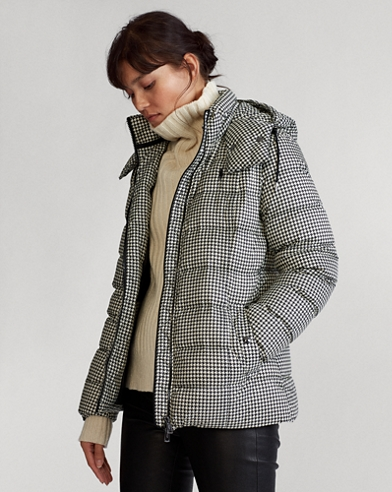 Houndstooth Down Jacket