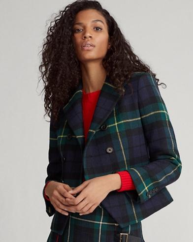 Tartan Wool-Blend Blazer