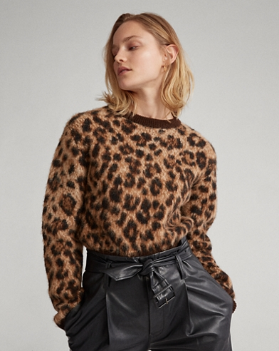 Leopard-Print Wool Sweater