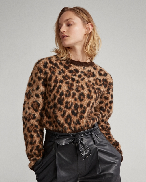 Polo RalphLauren Leopard-Print Wool Sweater